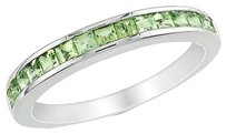 Other Sterling Silver 78 Ct Tgw Peridot Eternity Ring