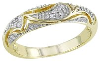 10k Yellow Gold 110 Ct Round-cut Diamond Geometric Eternity Band Ring G-h I2-i3