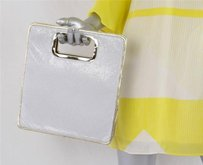 Mesh Gold Leather Top White Clutch