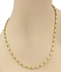 Other Fancy Padlock Link Chain Necklace In 18k Two Tone Gold