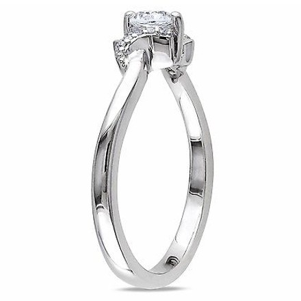 Other Sterling Silver Sapphire And Diamond Fashion Ring 13 Ct Tgw G-h I2-i3