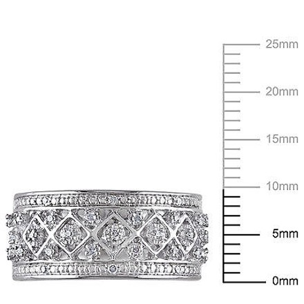 Other Sterling Silver 17 Ct Diamond Tw Geometric Fashion Ring Gh I2i3