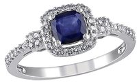 10k White Gold 15 Ct Diamond 34 Ct Diffused Sapphire Fashion Ring Gh I1-i2