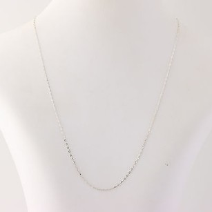 Fine Cable Chain Necklace - Sterling Silver 925 Spring Ring Clasp 19.25womens