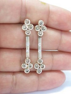 Fine Fancy Brown Diamond Flower Dangling Earrings 3.26c