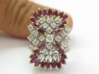 Fine Gem Ruby Designer Diamond Jewelry Ring Yg 2.35ct
