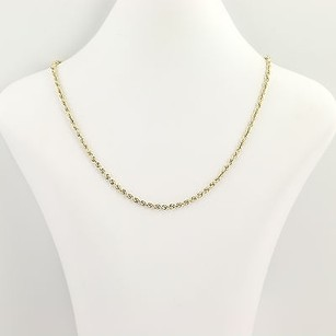 French Rope Chain Necklace 20 - 14k Yellow Gold Womens