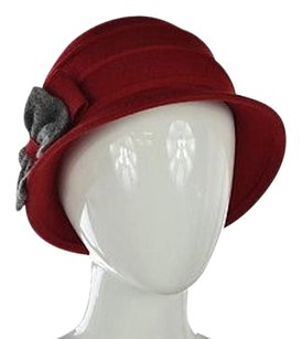 Other Galliano Sorbatti Womens Red Bucket Hat One Wool Casual