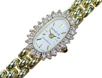 Other Geneve Quartz 14k Gold Swiss Made Diamond Classic Watch For Ladies Siw084