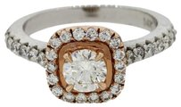 GIA Certified 14k White and Rose Gold 1ctw J VVS1 Diamond Halo Engagement Ring