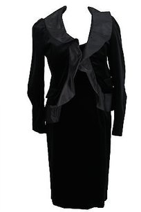 Gio Guerreri Womens Dress Suit Black Cotton