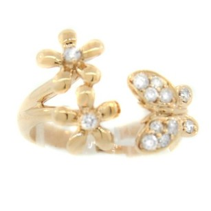 Other Glk 14k Rose Gold 0.35ct Diamond Butterfly And Flower Ring