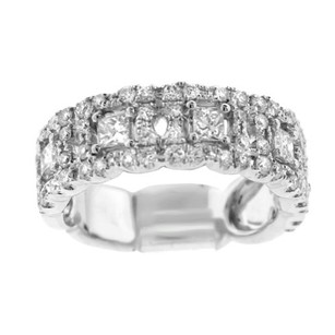 Other Glk 14k White Gold 1.30ct Diamond Embellished Band