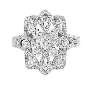 Other Glk 14k White Gold 1.45ct Diamond Cross Ring