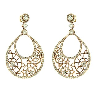 Other Glk 14k Yellow Gold 11.40ct Diamond Seed Of Life Earrings