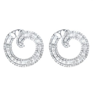 Other Glk 18k White Gold 2.25ct Diamond Coiled Earrings