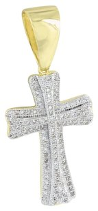 Other Gold Cross Pendant 14k Finish Simulated Diamonds Men Womens Pave Set Rapper Wear