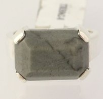 Other Gray Marble Ring - Sterling Silver Genuine Statement 8.25 Womens
