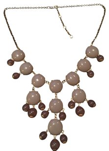 Gray Transluscent Bubble Necklace and Jewelry Bag
