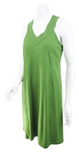 Ibex Green Merino Wool Blend Racerback Tank Dress