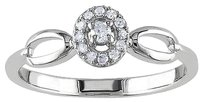 Sterling Silver Fashion 110 Ct Tdw Oval Link Diamond Promise Ring G-h I2-i3