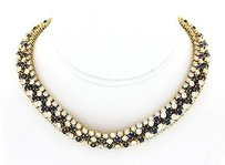 Hammerman 18k Yellow Gold Diamond And Sapphires Necklace