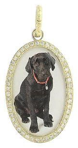 Other Hellmuth Hund Diamond Black Lab Pendant - 14k Gold Sterling .75ctw