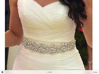High Quality Bridal Sash Color Ivory And Silver