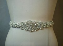 High Quality Bridal Sash Color White