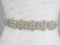 High Quality Bridal Sash Color White Pearls A