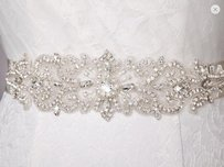 High Quality Bridal Sash With Pearls And Crystals