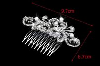 High Quality Crystals And Pearls Bridal Comb