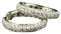 Other 14k Womens Endless Wg 3.46 Ct Diamond Hoops Earrings