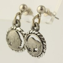 Other Indian Head Earrings - Sterling Silver Vintage Stick Pierced Dangle Fashion