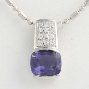 Other Iolite Cubic Zirconia Pendant Necklace 12 - 14k White Gold Fashion Cz