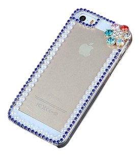 IPhone 5 Case clear with Rhinestone Flower Design
