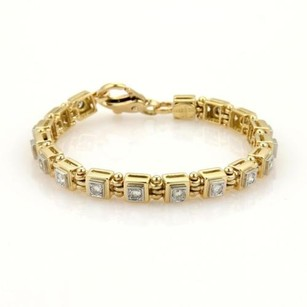 Ivan Co. 1.70ct Diamonds 18k Yello Gold Platinum Bracelet