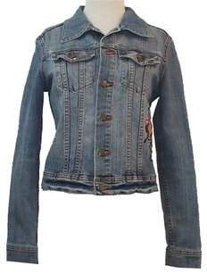 Other Tixi Denim Butterfly Floral Embroidery Front Back B129 Womens Jean Jacket