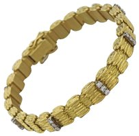 Other 1970s German Vintage Estate 18k Solid Yellow Gold 1ctw Diamond Bracelet 51.5g
