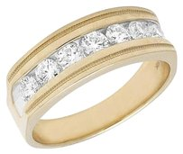 Other 10k Yellow Gold Mens Genuine Diamond Channel Wedding Engagement Ring Band 1.0ct