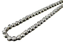 Mens 10k Yellow Gold Prong 1 Row Real Diamond Tennis Chain Necklace 13.75ct 30