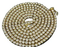 Other Mens 14k Yellow Gold Prong 1 Row Genuine Diamond Chain Necklace 22.65 Ct 32