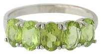 Peridot Ring - Sterling Silver Green Gemstones 6.75-7 2.29ctw