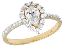 Other Ladies 14k Yellow Gold Pear Solitaire Genuine Diamond Engagement Ring 1.0ct 8mm