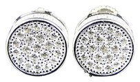 Premium Simulated Diamond 3d Round Canister Stud Earrings In White Gold Finish