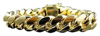 Other Mens Yellow Gold Finished Sterling Silver Miami Cuban Heavy Bracelet 15.13mm