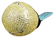 Mens Iced Out 3d Pave Simulated Lab Diamond Dome Pinky Band Ring