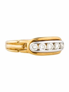 Estate 18k Yellow Gold And 0.50ct Diamond Band