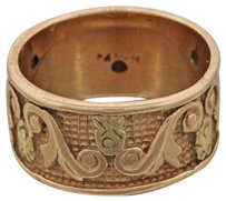 Other 1880s Antique Victorian Estate 14k Solid Rose Gold Engraved Wedding Band Ring