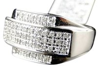 10k,Mens,White,Gold,Pinky,Wedding,Band,Genuine,Diamond,Ring,12,Ct